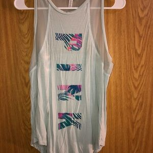 PINK turquoise muscle shirt💙